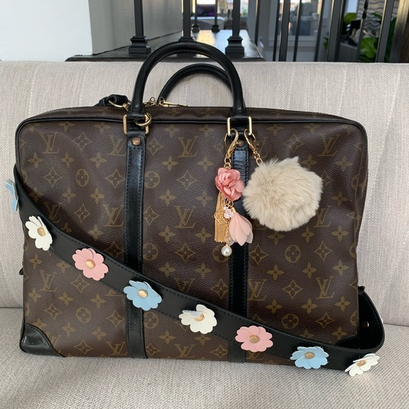 Louis Vuitton monogram business bag w/ auth cert